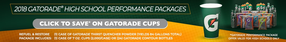 Gatorade Cups High School Performance Packages