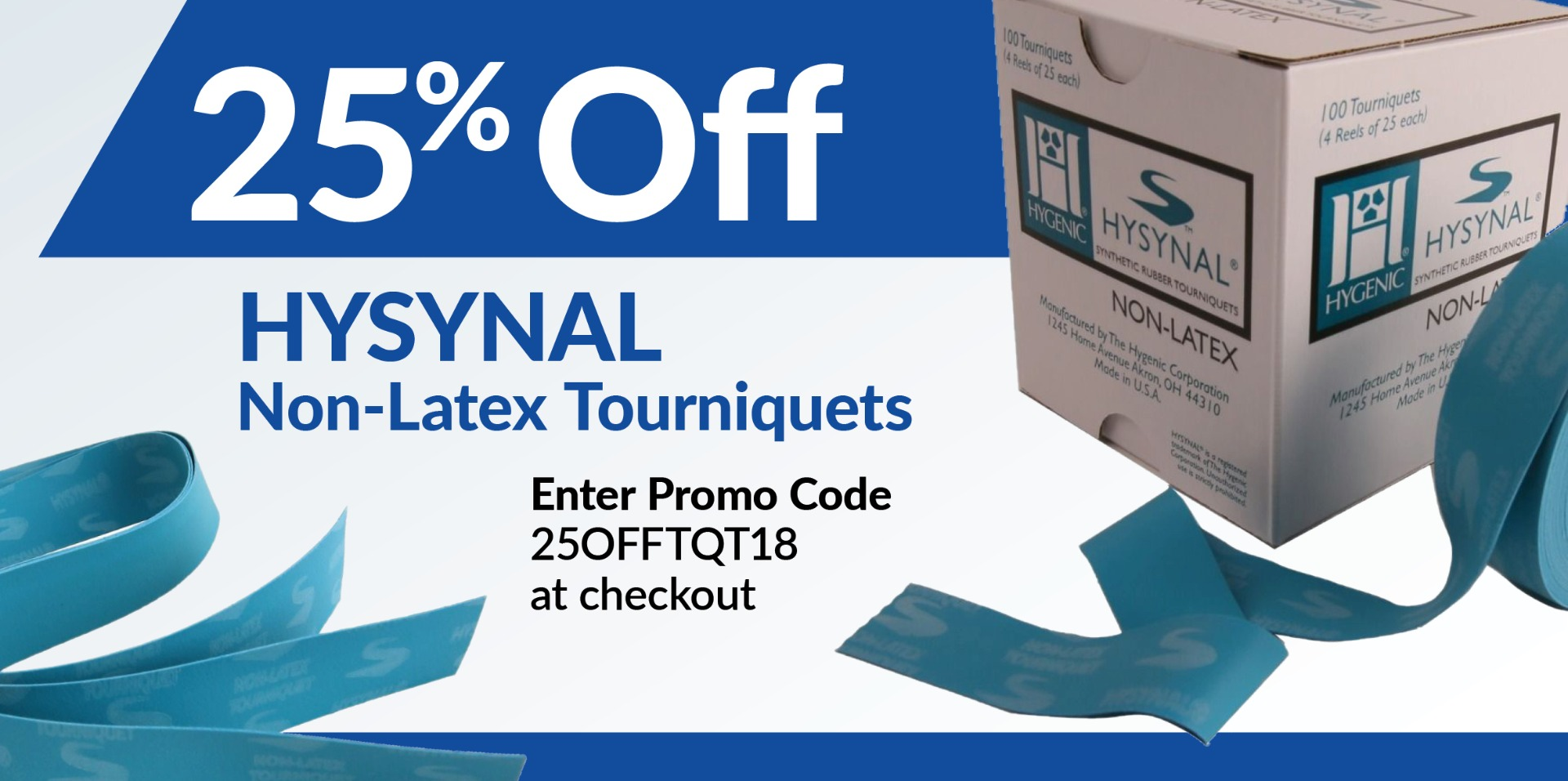 Hysynal non-latex tourniquet promo 25 off